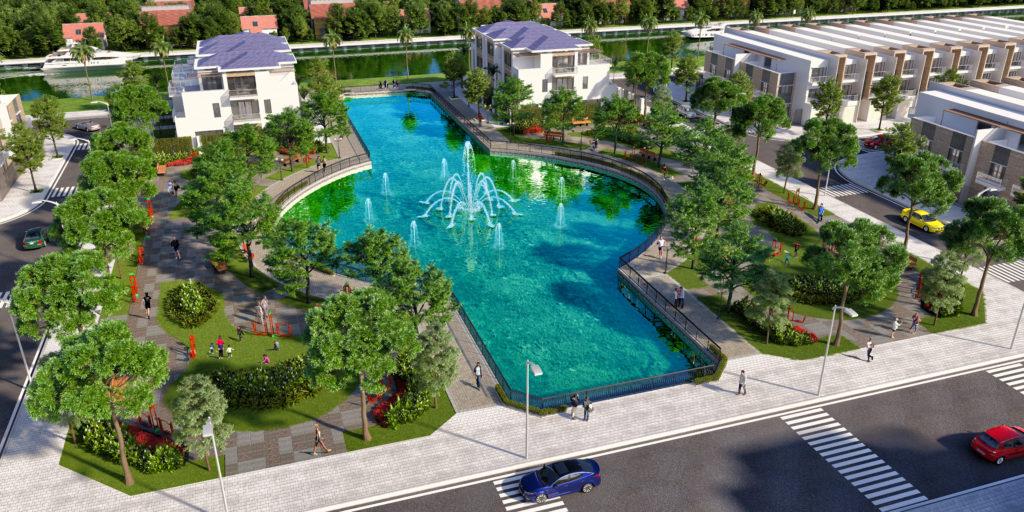 Phối cảnh hồ điều hòa dự án Lago Centro