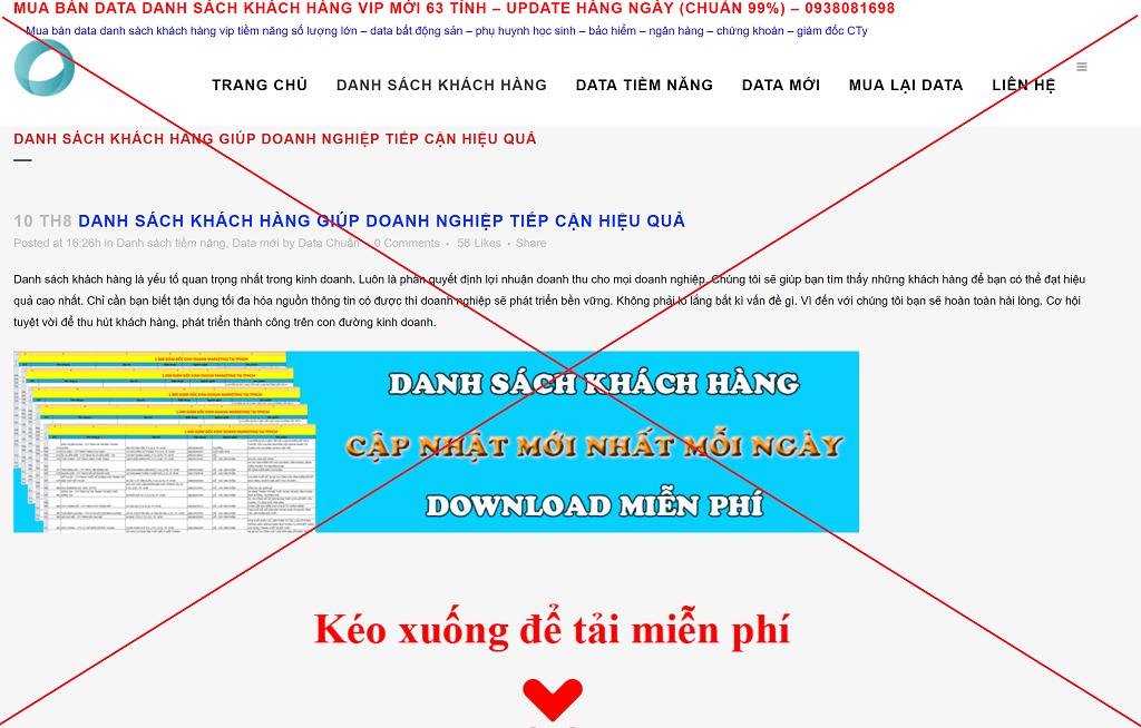 Sử dụng website miễn phí, trình bày không chuyên nghiệp, không tôn trọng người xem