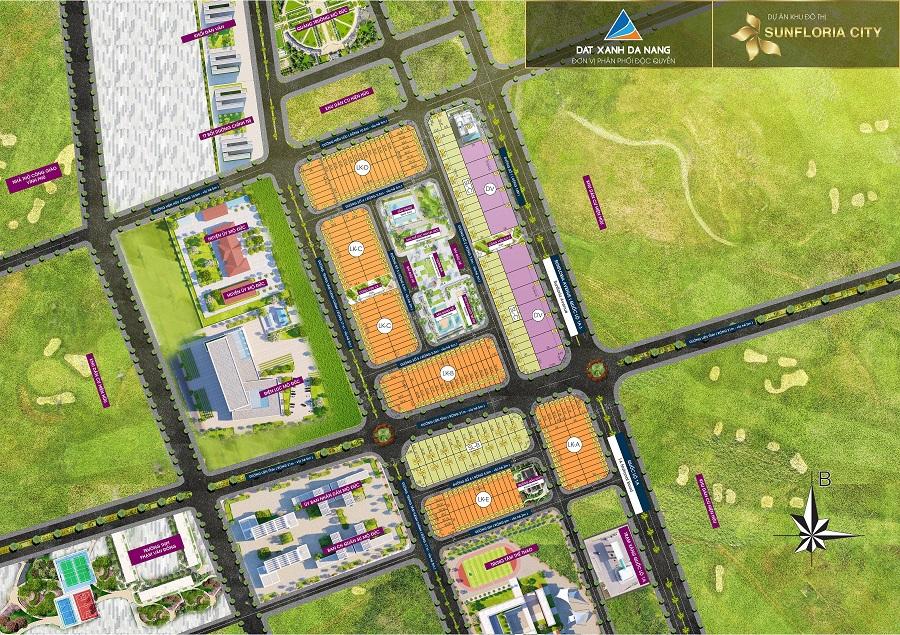 Mặt bằng tổng thể dự án khu dân cư Sunfloria City Quãng Ngãi