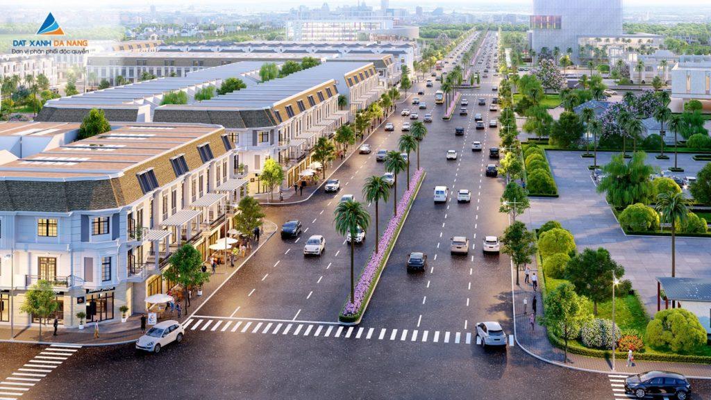 Phối cảnh các căn nhà phố thương mại trong khuôn khổ dự án Sunfloria City Quãng Ngãi